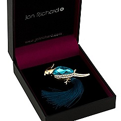 Jon Richard - Crystal parrot tassel brooch