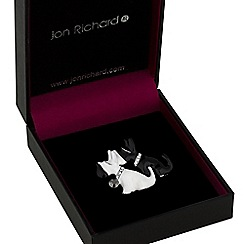 Jon Richard - Monochrome scotty dog brooch
