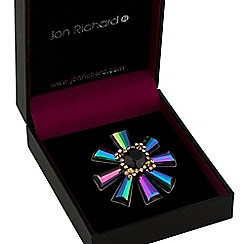 Jon Richard - Multi colour starburst brooch