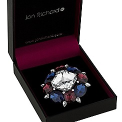 Jon Richard - Multi colour crystal statement brooch