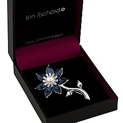 Jon Richard - Blue crystal flower brooch