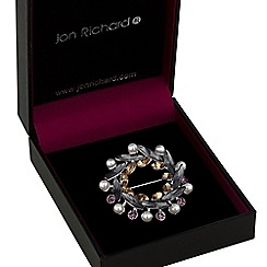 Jon Richard - Multi tone crystal wreath brooch