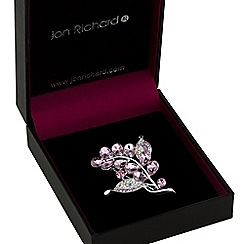 Jon Richard - Pink crystal bouquet brooch