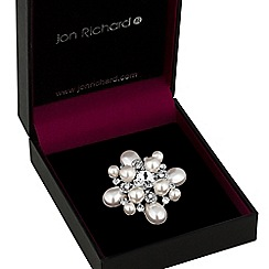 Jon Richard - Pearl and crystal cluster brooch