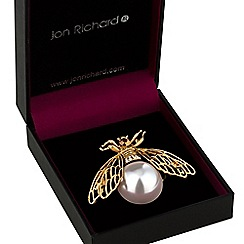 Jon Richard - Pearl bee brooch
