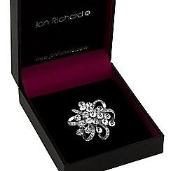 Jon Richard - Silver crystal cluster brooch