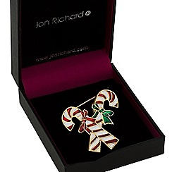Jon Richard - Candy cane brooch