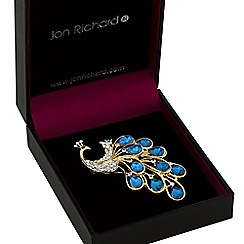 Jon Richard - Blue peacock brooch