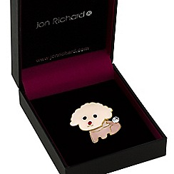 Jon Richard - Pink puppy brooch