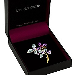 Jon Richard - Purple tonal flower brooch