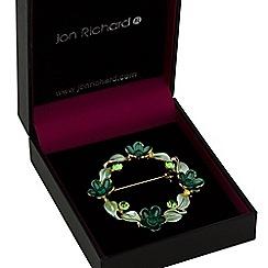 Jon Richard - Green flower garland brooch