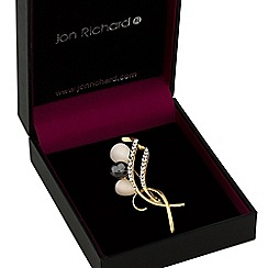 Jon Richard - Gold swirl brooch