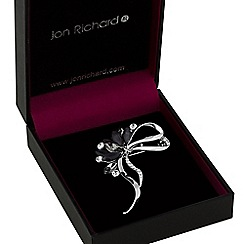 Jon Richard - Jet crystal loop bow brooch