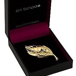 Jon Richard - Gold leaf brooch