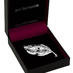 Jon Richard - Silver leaf brooch