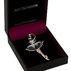 Jon Richard - Rose gold ballet dancer brooch