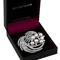 Jon Richard - Pearl and crystal spray brooch