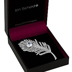 Jon Richard - Statement crystal feather brooch