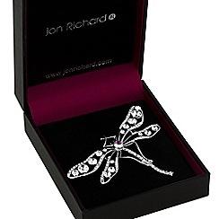 Jon Richard - Crystal dragonfly brooch