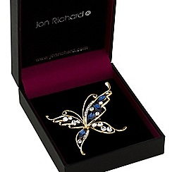 Jon Richard - Blue crystal butterfly brooch