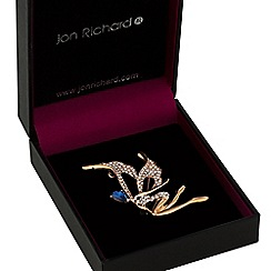 Jon Richard - Gold crystal fairy brooch