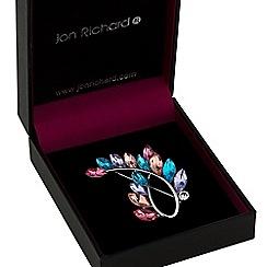 Jon Richard - Multi colour crystal swirl brooch