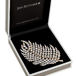 Jon Richard - Crystal leaf brooch