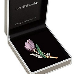 Jon Richard - Crystal tulip brooch