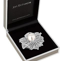 Jon Richard - Pearl flower brooch
