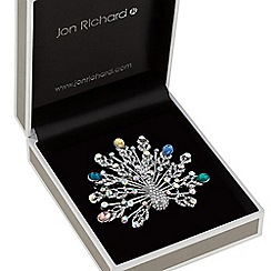 Jon Richard - Crystal peacock brooch