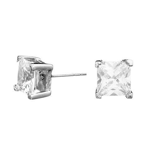 Jon Richard - Sparkling cubic zirconia square stud earring