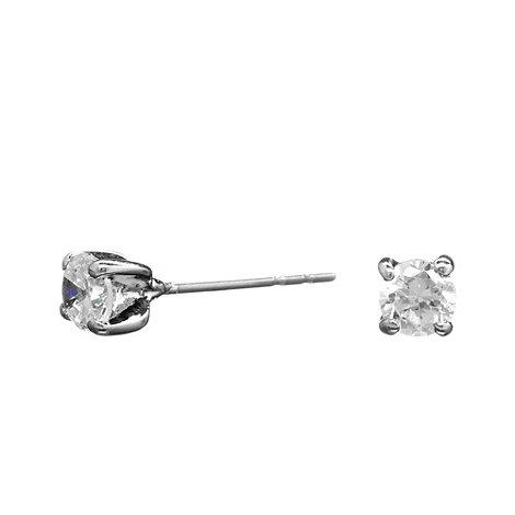 Jon Richard - Round cubic zirconia stud earring