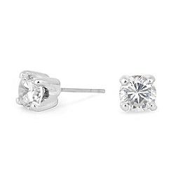 Jon Richard - Sparkling small cubic zirconia round stud earring