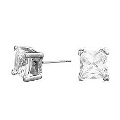 Jon Richard - Square cubic zirconia stud earring