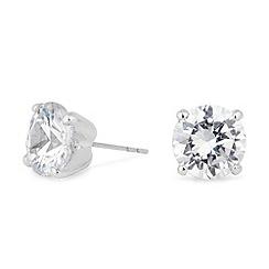 Jon Richard - Sparkling cubic zirconia round stud earring