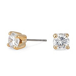 Jon Richard - Sparkling small cubic zirconia round gold stud earring
