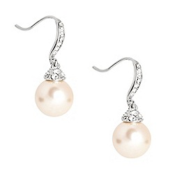 Jon Richard - Crystal stick and cap pearl drop earring