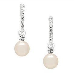 Jon Richard - Crystal stick and pearl drop earring