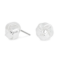Jon Richard - Mini textured knot stud earring