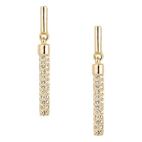 Jon Richard - Pave crystal gold stick earring