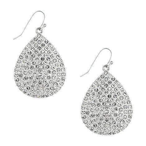 Jon Richard - Pave crystal peardrop earring