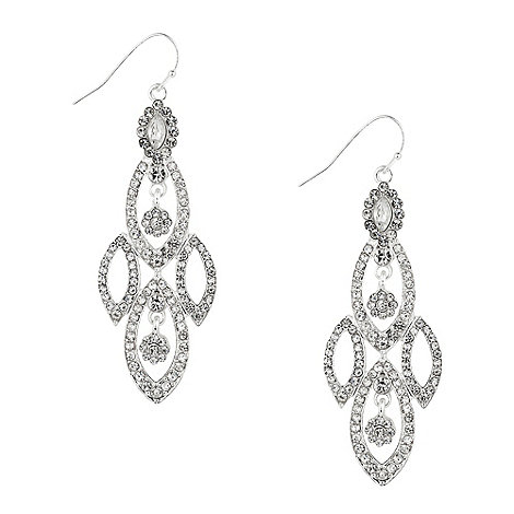 Alan Hannah Devoted - Multi navette crystal chandelier earring