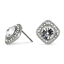 Jon Richard - Square clara crystal stud earring