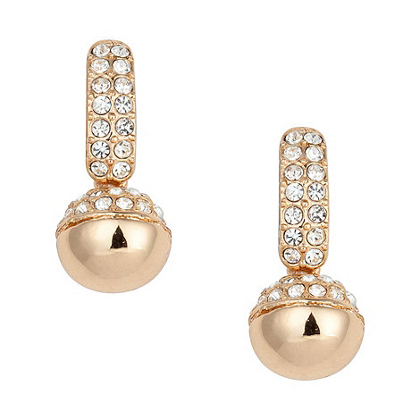 Jon Richard - Gold crystal drop ball earring