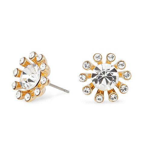 Jon Richard - Gold crystal starburst earring
