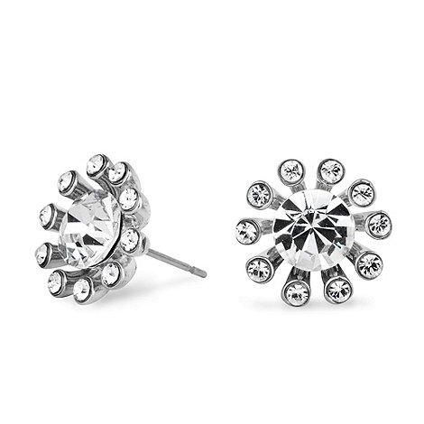 Jon Richard - Silver crystal starburst stud earring