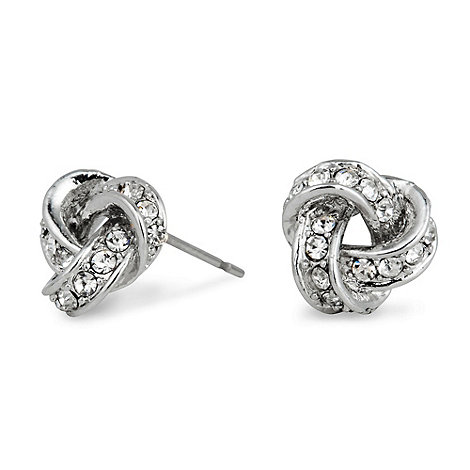 Jon Richard - Pave crystal mini knot earring