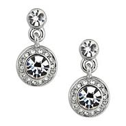 Clara crystal silver drop earring