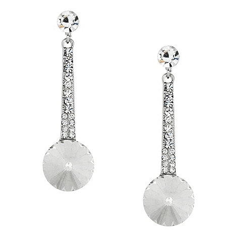 Jon Richard - Crystal stick and facet stone drop earring