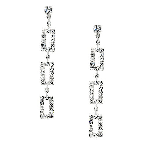 Jon Richard - Diamante crystal triple gate drop earring